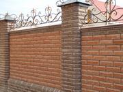 Строительство заборов из кирпича в Киеве и Киевской области