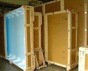 Коробка ящик бокс для перевозки и хранения картин из ДВП. Украина.