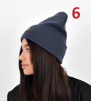 Трикотажная демисезонная шапка