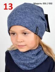 Весенний комплект для девочки,  шапка и хомут