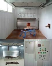 Мобильные промышленные окрасочно-сушильные камеры GEFEST PDC для качественной окраски изделий из дерева.