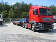 Перевозки тяжеловесных негабаритных грузов. Аренда трала