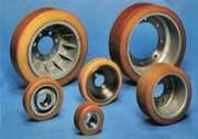 покрытие колес штабелеров,  погрузчиков,  роликов и валов полиуретаном
